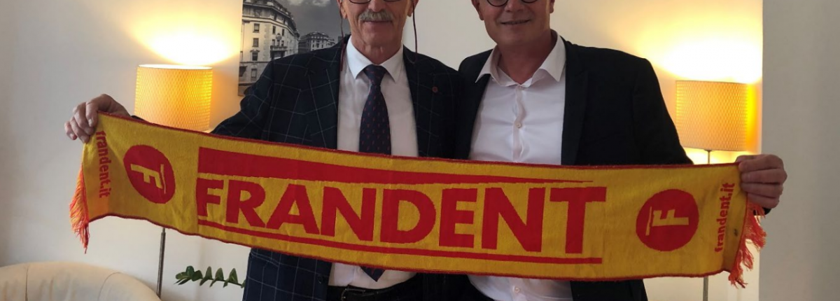 Ezio Bruno, président de Frandent et Julien Burel, président du groupe Burel