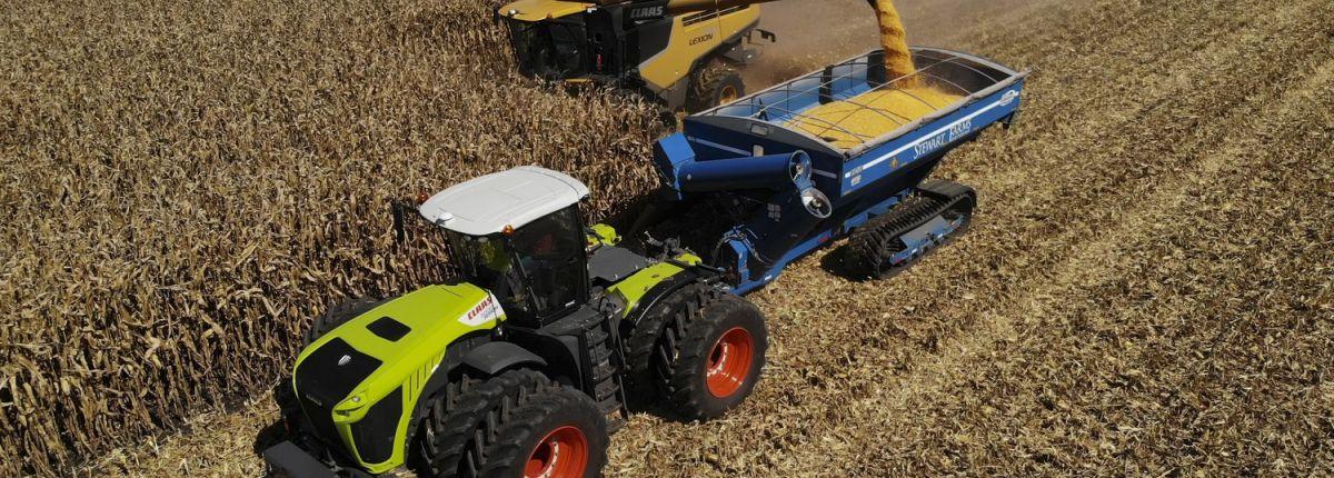 Claas a battu deux records du monde de récoltes de maïs. © Claas