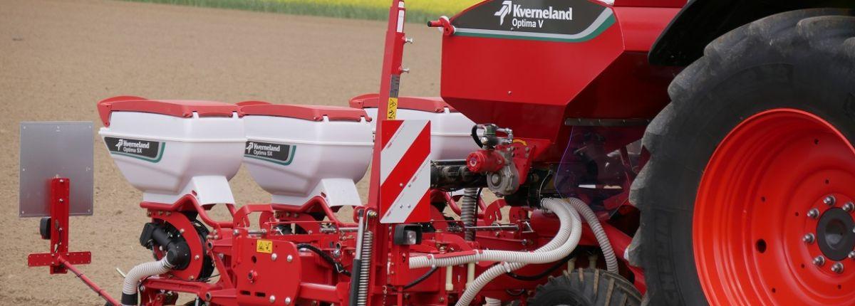 Kverneland integre un système pour le contact avec les produits sur ses micro-granulateurs. © Kverneland
