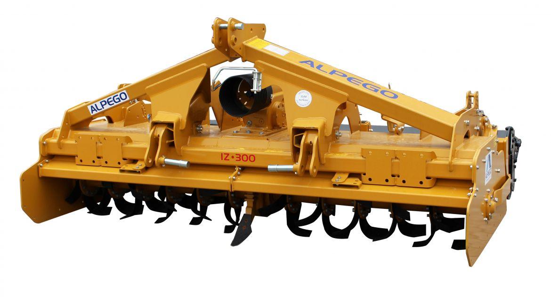 La puissance de rotation est retransmise au centre de la machine et répartie sur 2 demi-rotors.