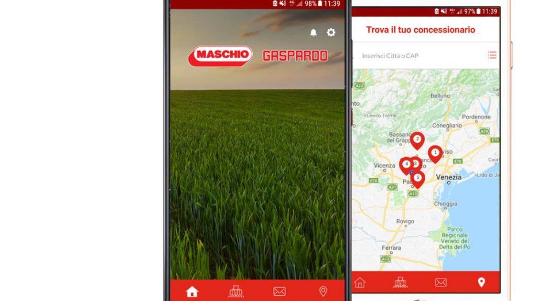 L'application est disponible sur Android et iOS. © Maschio Gaspardo