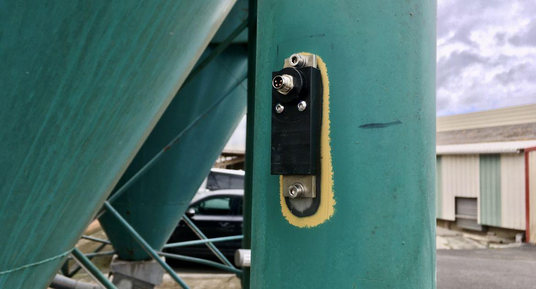 Nanolike: un capteur connecté pour gérer les silos d'aliments. © Nanolike