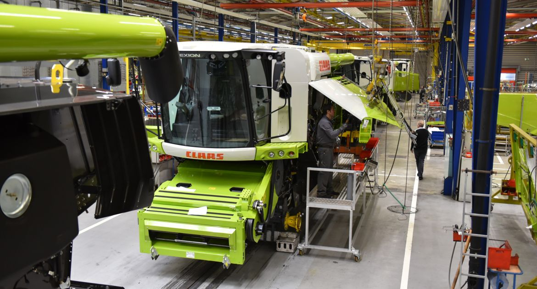 Claas va stopper la production d'Harsewinkel jusqu'au 17 avril minimum