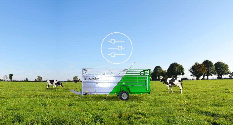 Un configurateur pour les bétaillères et les aérateurs de prairies