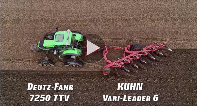 Deutz Agrotron 7250 TTV au labour.