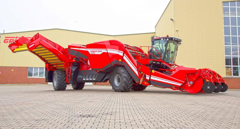 Grimme présentera laVentor 4150à4 rangs avec ses 530 ch. © Grimme