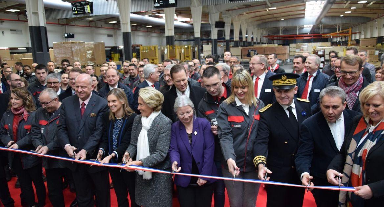 Les dirigeants d'Agco et Massey Ferguson ont inauguré Beauvais 3 en présence des élus locaux et régionaux. © GL/Pixel Image