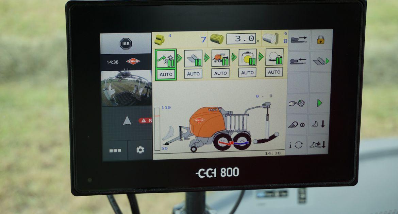 Un écran de 8 pouces pour le terminal Isobus CCI 800
