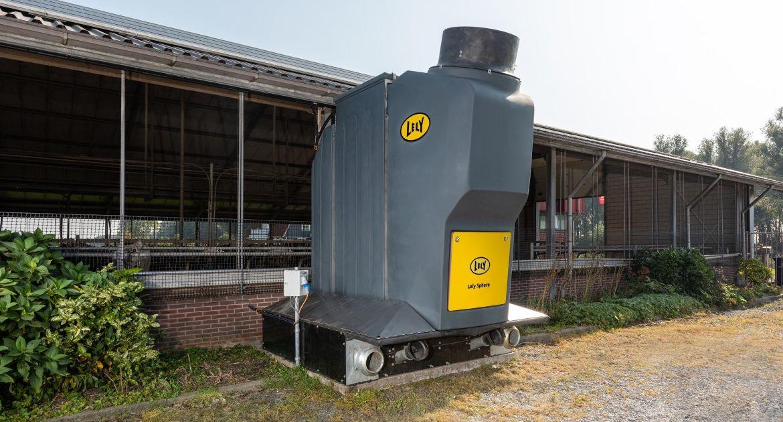 Jusqu'à 70 % d'émissions d'ammoniac en moins dans les bâtiments avec le Lely Sphere
