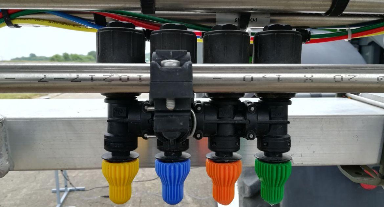 Le système OSS est disponible en version 2 ou 4 buses. © Tecnoma