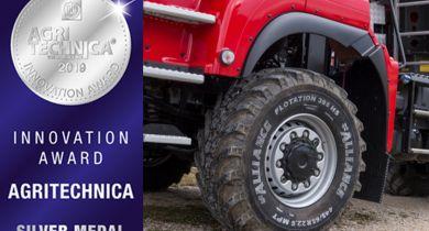 Le premier pneu agricole capable de rouler à 100 km/h récompensé
