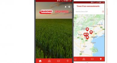L'application est disponible sur Android et iOS. © Maschio Gaspardo