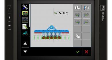 L'application Isobus pour bineuses est disponible sur le terminal Touch800.© Müller
