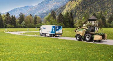 En 2018, Krone a réalisé un chiffre d'affaires de 2,1 milliards d'euros. © Krone