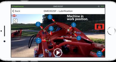 L'application Redvista identifie tous les points de graissage de la machine. © Kuhn