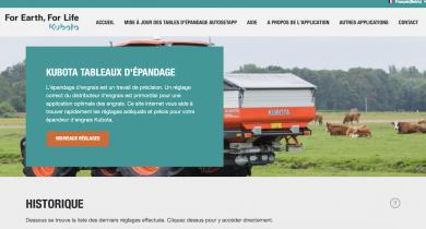Un nouveau site Web pour bien régler son épandeur d'engrais.