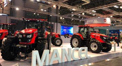 Mancel a présenté sa nouvelle gamme de tracteurs. © GL / Pixel6TM