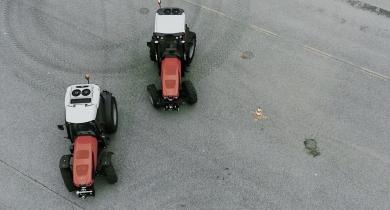 4 roues directrices pour le Frutteto grâce à l'ActiveSteer