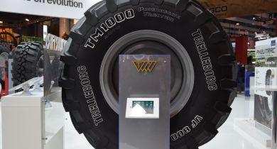Trelleborg a présenté le TM1000 lors du Sima. © GL / Pixel Image